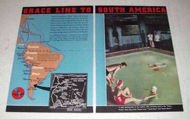 1937 Grace Line Cruise Ad - To South America - $14.99
