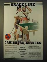 1938 Grace Line Cruise Ad - Caribbean Cruises - $14.99