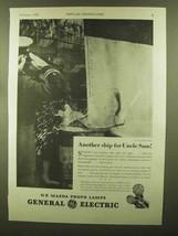1943 General Electric Mazda Photo Lamps Ad - Ship - $14.99