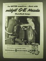1944 General Electric Mazda Photoflash Lamps Ad - $14.99