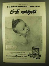 1944 General Electric Mazda Photoflash Lamps Ad - For Better Negatives - $14.99