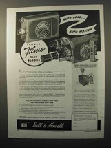 1945 Bell & Howell Filmo Auto Load Movie Camera Ad - $14.99