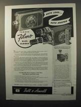 1945 Bell & Howell Filmo Auto Load Movie Camera Ad - $14.99