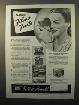 1945 Bell & Howell Filmo Sportster Movie Camera Ad - Firsts - $14.99