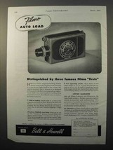 1945 Bell & Howell Filmo Auto Load Movie Camera Ad - Firsts - $14.99