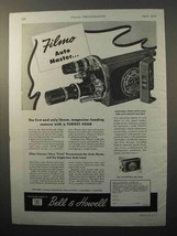 1945 Bell & Howell Filmo Auto Master Movie Camera Ad - $14.99