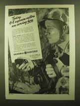 1945 General Electric Exposure Meter Ad - Serving Here - $14.99
