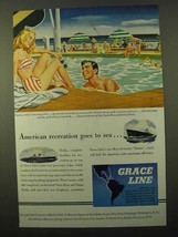 1946 Grace Line Cruise Ad - American Recreation - $14.99