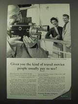 1956 Kodak Cine-Kodak K-100 Camera Ad - Pay to See - $14.99