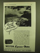 1943 Weston Exposure Meter Ad - Squall on the Columbia - $14.99