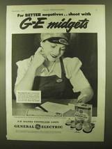 1944 General Electric Mazda Photoflash Lamps Ad - NICE! - $14.99