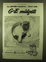 1944 General Electric Mazda Photoflash Lamps Ad - Midgets - $14.99