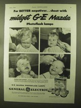 1944 General Electric Mazda Photoflash Lamps Ad - Shoot With - $14.99