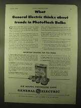 1944 General Electric Mazda Photoflash Lamps Ad - Trends - $14.99