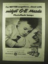 1944 General Electric Mazda Photoflash Lamps Ad - Shoot with Midget - $14.99