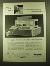 1958 Argus Electromatic Color Slide Projector Ad - $14.99