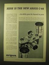 1958 Argus C-44 Camera Ad - Ability Goes Far Beyond - $14.99