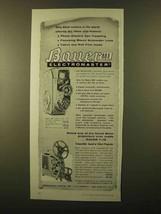 1958 Bauer 88E Electromaster Movie Camera Ad - $14.99