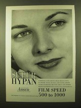 1958 Ansco Super Hypan Film Ad - Speed 500 to 1000 - $14.99