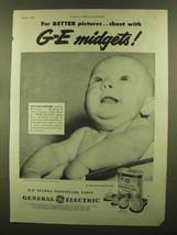 1945 General Electric Mazda Photoflash Lamps Ad - Midgets - $14.99