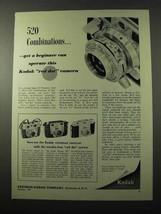 1954 Kodak Signet 35 Camera Ad - 520 Combinations - $14.99