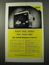 1954 Kodak Cine-Kodak Magazine 8 Camera Ad - $14.99
