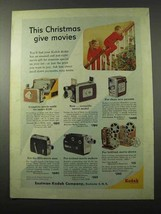 1955 Kodak Movie Camera Ad - Brownie, Medallion 8 + - $14.99