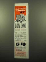 1963 Calumet 4x5 View Camera Ad! - $14.99