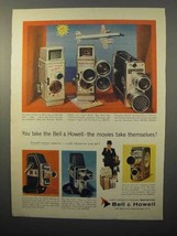 1957 Bell & Howell Movie Camera Ad - 200-EE 240-A 240-T - $14.99