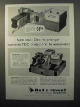 1957 Bell & Howell TDC Headliner 303 Slide Projector Ad - $14.99