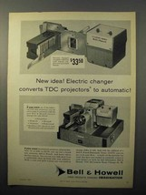 1957 Bell & Howell TDC Headliner 303 Slide Projector Ad - NICE - $14.99