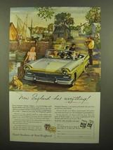 1957 Ford Motor Company Ad - New England Has - $14.99