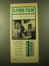 1957 Ilford HP5 Film Ad - For Faces and Places - $14.99