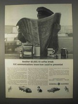 1966 General Electric Communications Ad - Coffee Break - $14.99