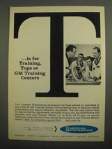1966 General Motors Ad - T For Training, Tops - $14.99