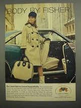 1966 GM Body by Fisher Ad - Seat Fabrics Travel - $14.99