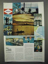 1966 Grace Line Cruise Ad - Go With Grace - $14.99