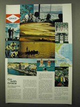1966 Grace Line Cruise Ad - With Grace - $14.99