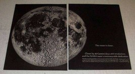 1966 IBM Gemini and Apollo Programs Ad - Moon is Closer - $14.99