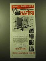 1958 Calumet 4x5 View Camera Ad - Swing It - $14.99