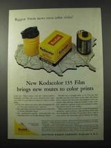 1958 Kodak Kodacolor 135 Film Ad - New Routes - $14.99