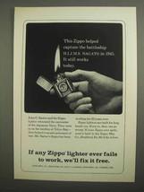 1966 Zippo Cigarette Lighter Ad - Battleship Nagato - $14.99