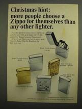 1966 Zippo Cigarette Lighter Ad - Christmas Hint - $14.99