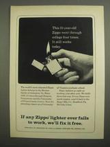1966 Zippo Cigarette Lighter Ad - College Four Times - $14.99