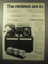 1970 Bell & Howell Slide Cube Projector Ad - Reviews In - $14.99
