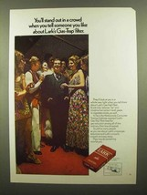 1970 Lark Cigarettes Ad - Stand Out In a Crowd - $14.99