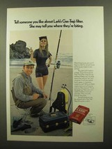 1970 Lark Cigarettes Ad - Where They're Biting - $14.99
