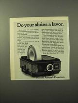1970 Minolta Autopak Projector Ad - Do Your Slides a Favor - $14.99