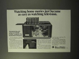 1973 Bell & Howell Double Feature Projector Ad - $14.99