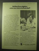 1977 Scottish Widows Assurance Ad - Algebra - $14.99